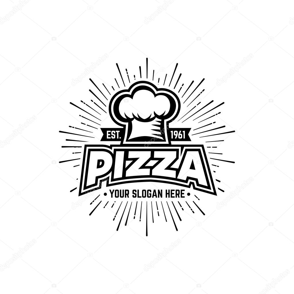Pizza Black And White