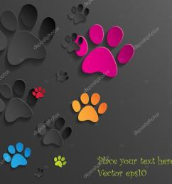 abstract paper cat paws background  [ 1023 x 924 Pixel ]
