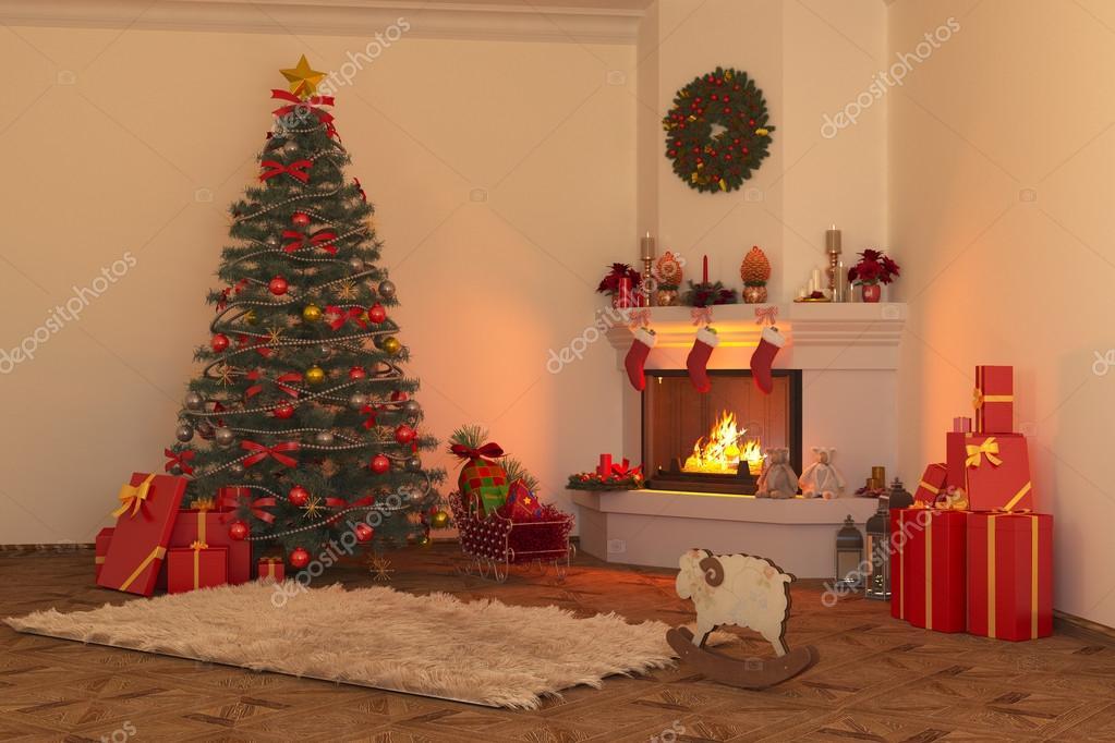 Kerst open haard 2  Stockfoto  gamespiritlife 92389122