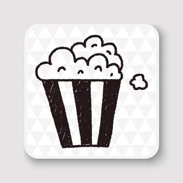 Popcorn doodle tekening vectorillustratie — Stockvector © hchjjl #94887786