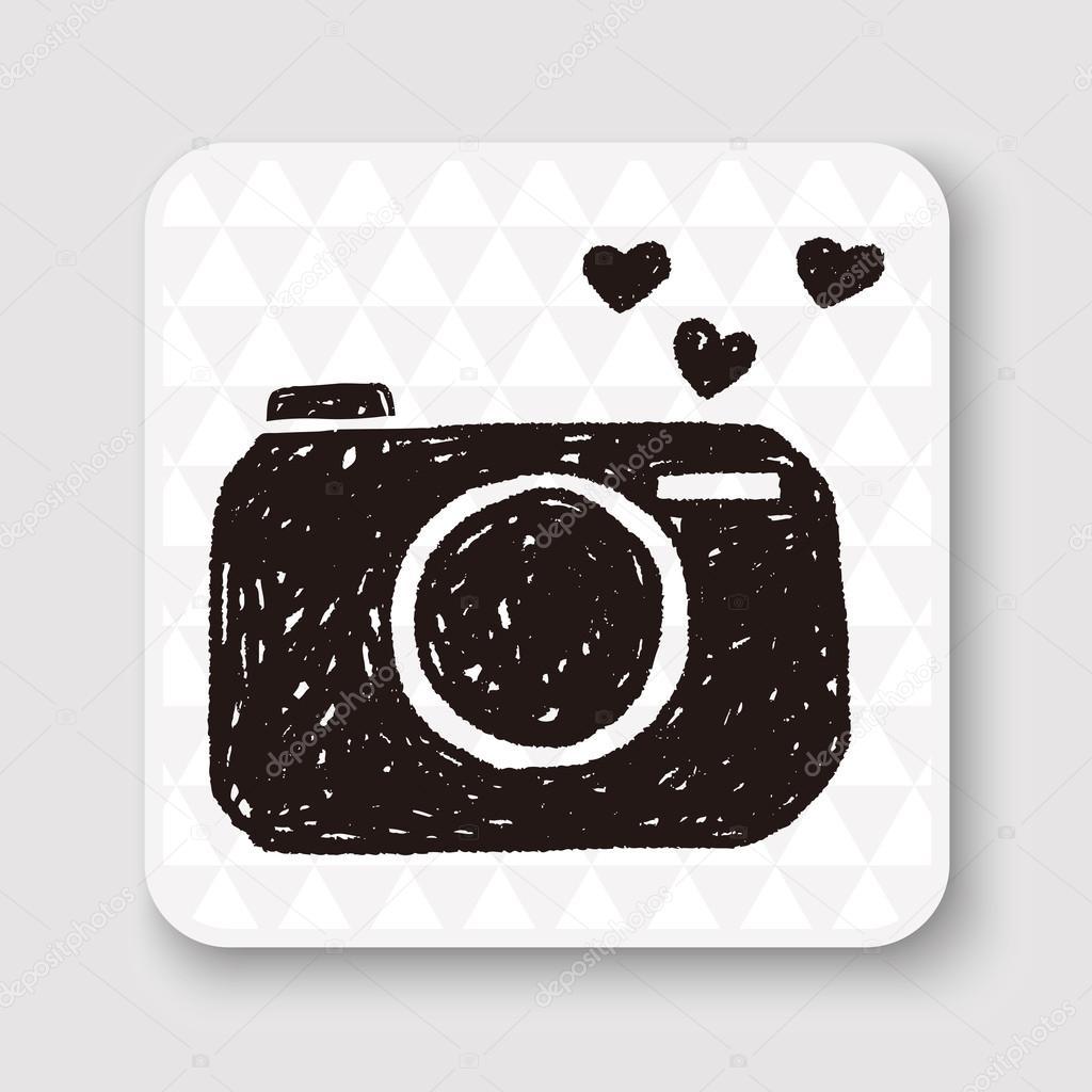 Download Love camera doodle vector illustration — Stock Vector ...