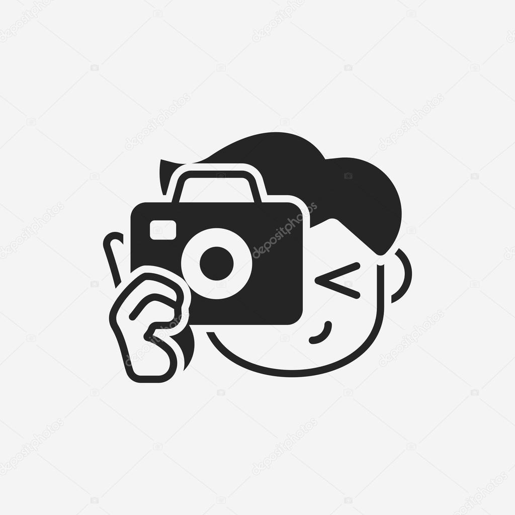 fotograaf pictogram  Stockvector  vectorchef 76682785