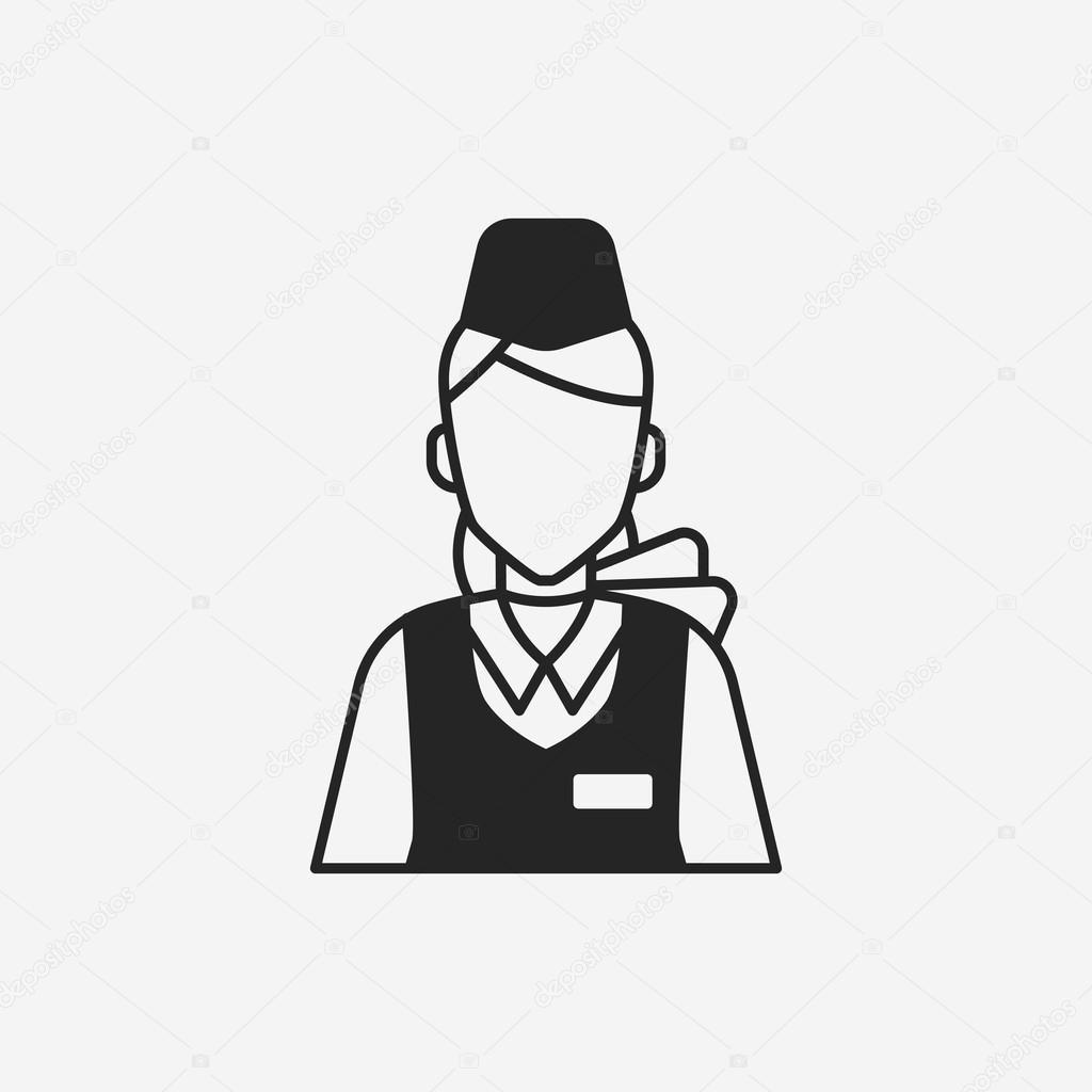 flight attendant icon — Stock Vector © vectorchef #79089342