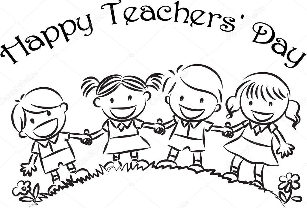 Happy teachers day — Stock Photo © wenpei #65742447