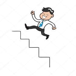 cartoon stairs jumping businessman vector springen walking zakenman escaleras person escalera dibujos animados depositphotos forward steps comic excellence