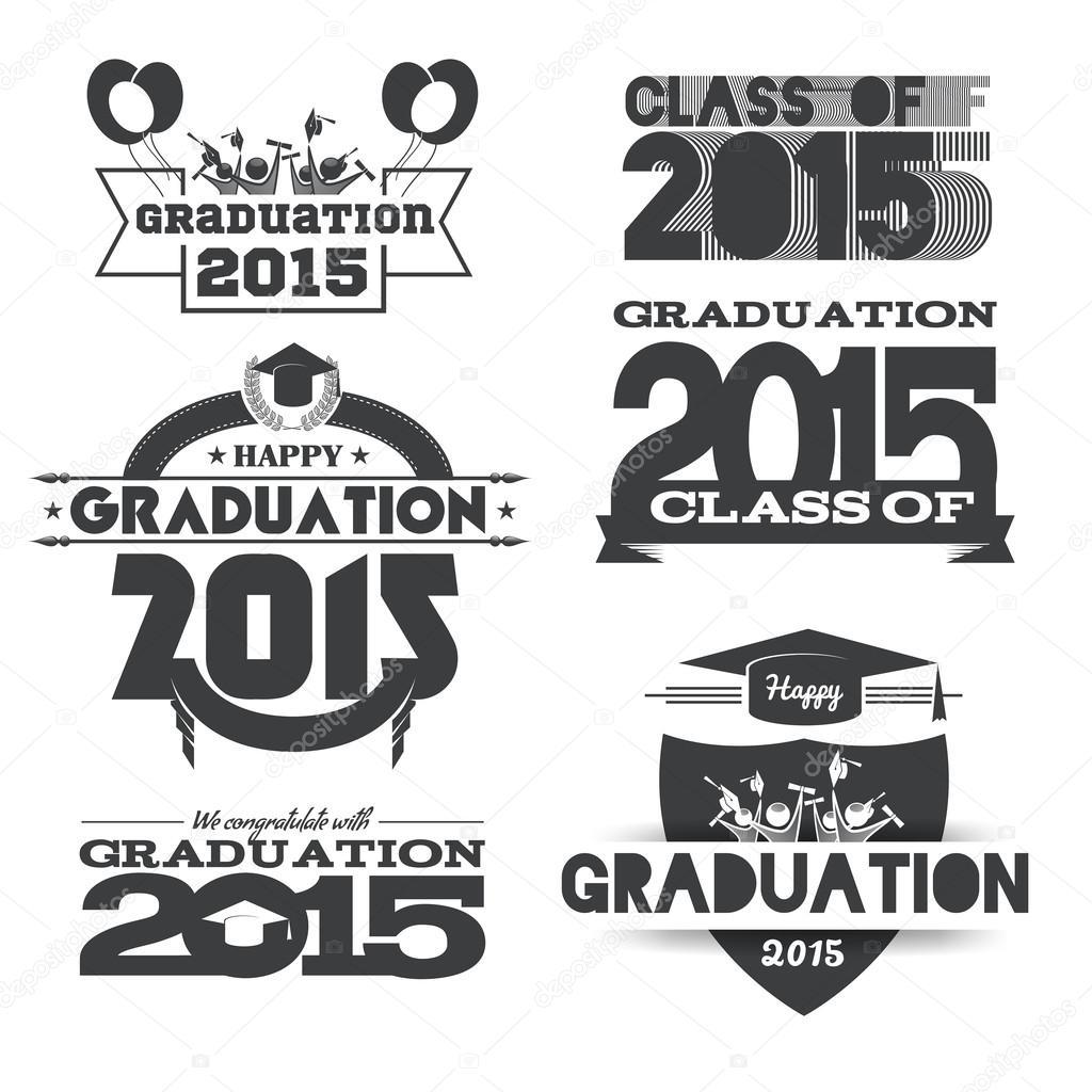 Graduation, education logo set — Stock Vector © artemon91