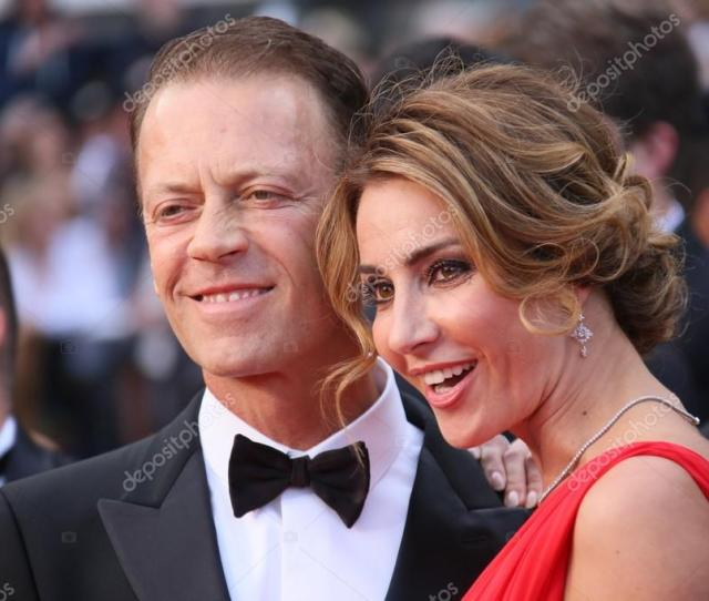 Cannes France  Rocco Siffredi And Rozsa Tassi Attend The Screening Of Money Monster At The Annual 69th Cannes Film Festival Photo By