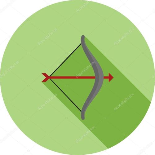 small resolution of archery arrow bow sports icon vector image can also be used for fitness recreation suitable for web apps mobile apps and print media