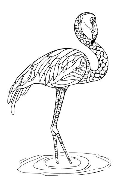 Flamingó színező oldal — Stock Vektor © Malyaka #67437561