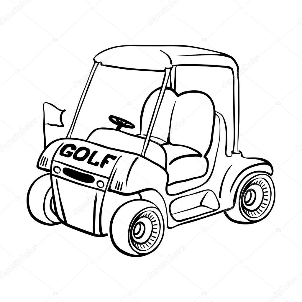 Golf cart — Stock Vector © andriocolt #70070223