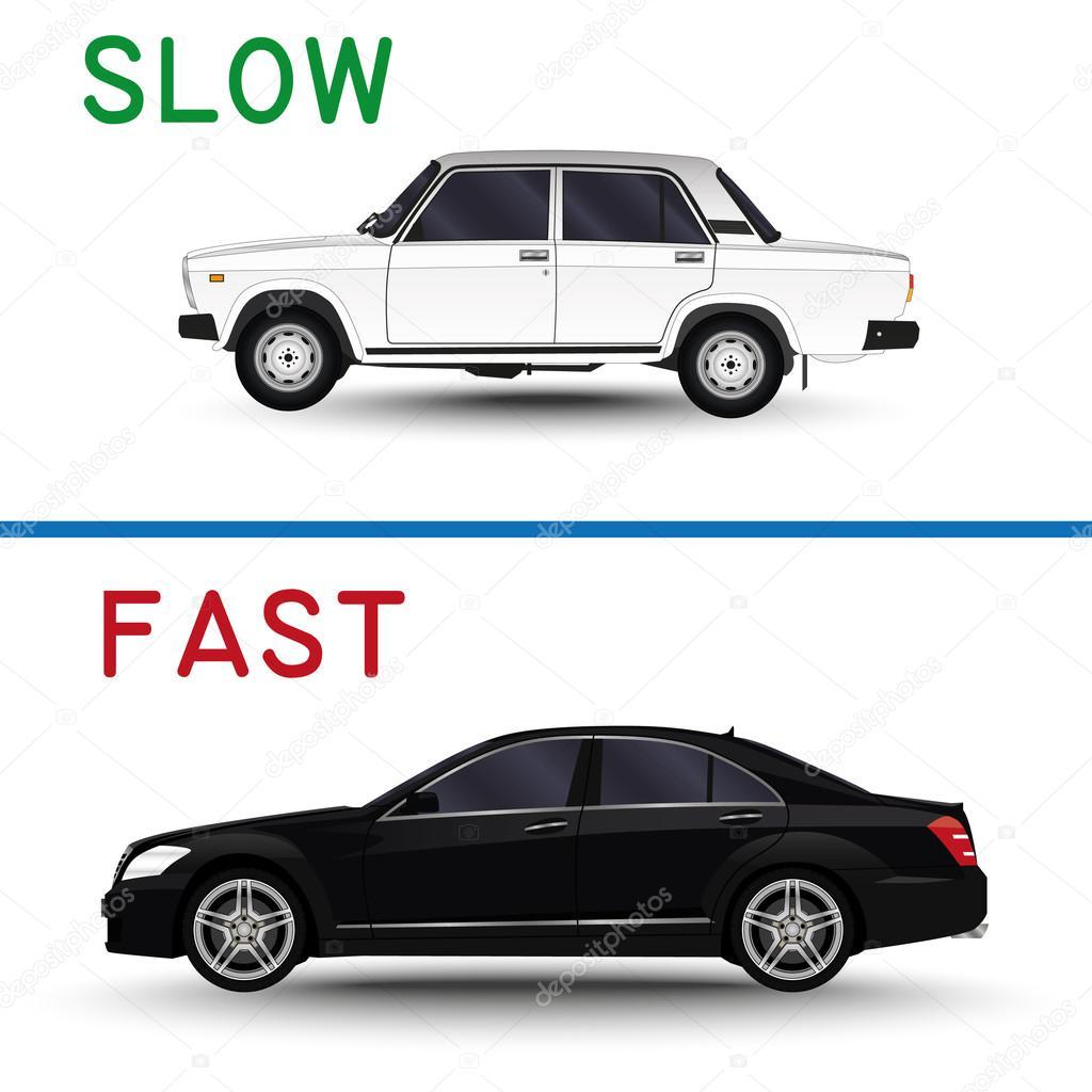 Samochodu Powolne I Szybkie Samochody