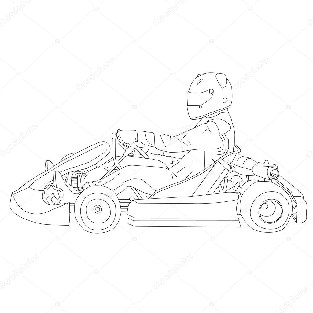 Go Kart complex Vektor 1 — Stock Vector © salimgor #73963753