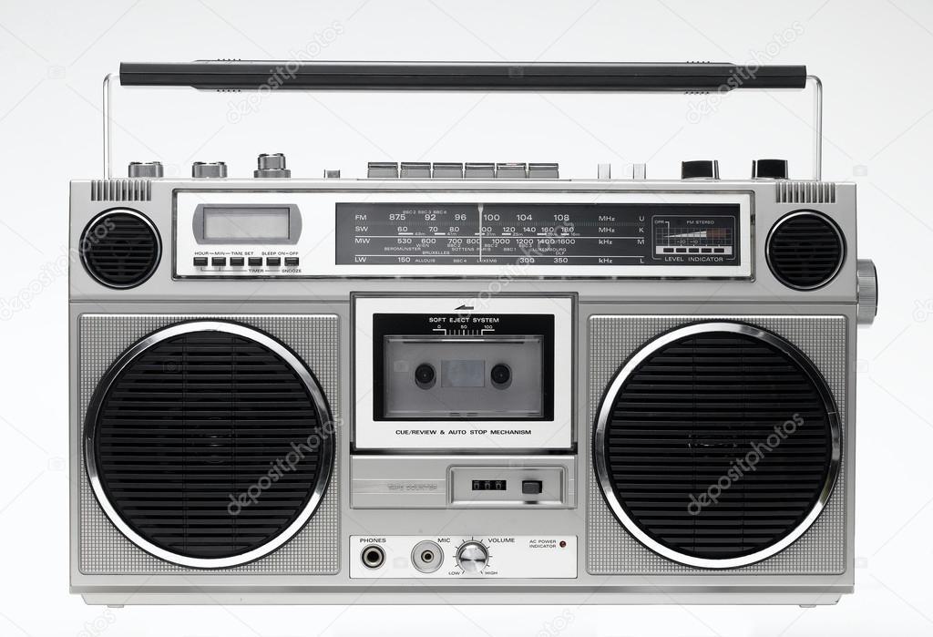 stereo boombox stock photo