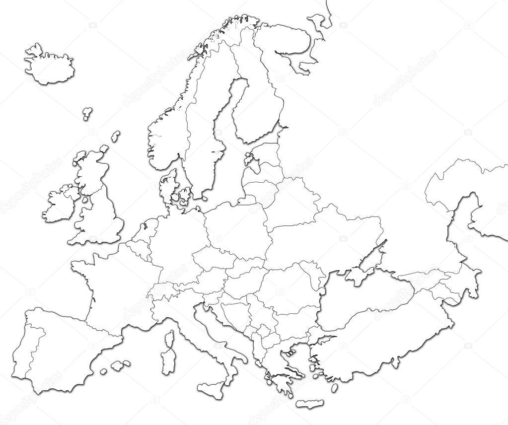 lege kaart van Europa — Stockfoto © bennymarty #123550432