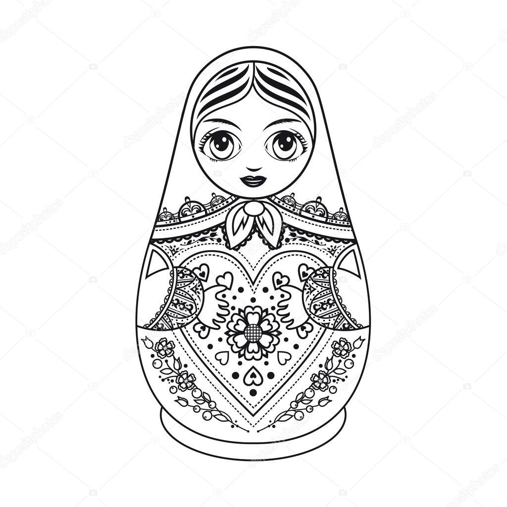 Matryoshka Boneca Russa Folclorica Russa Boneca Do