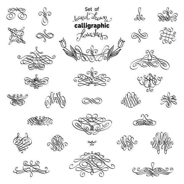 Satz von Vintage kalligraphischen Schnörkel, Grenzen