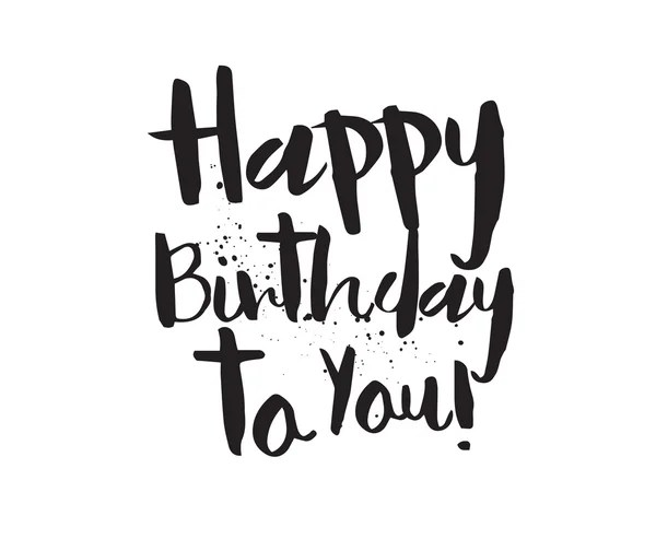 Feliz aniversário para você inscrição. Mão-extraídas