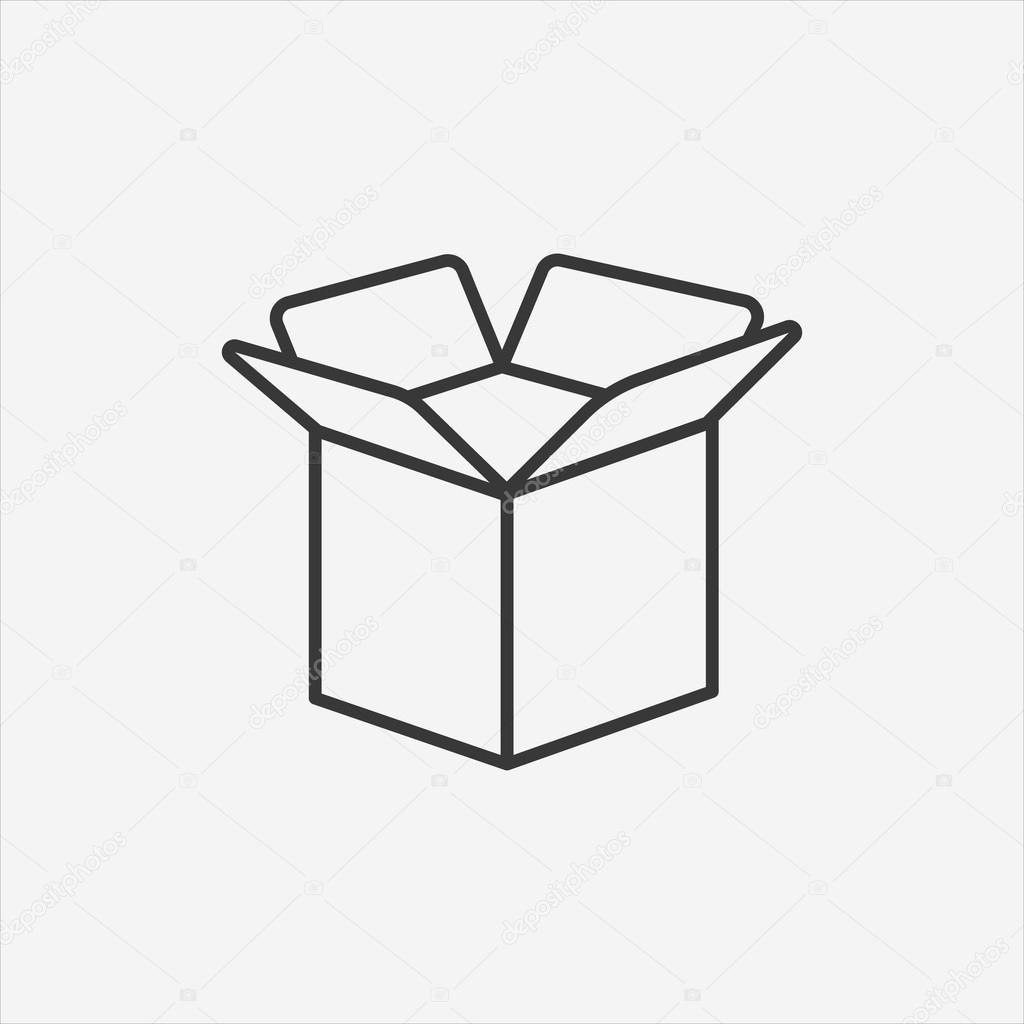 Carton Opened Package Box Icon