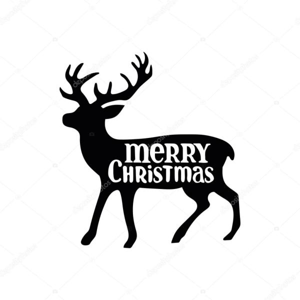 merry christmas. christmas deer