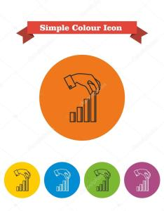 Icon of man hand putting last element bar chart  vector by redinevector also finishing stock rh depositphotos