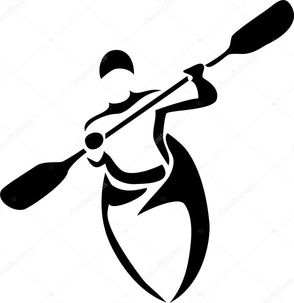 kayaker — Stock Vector © bokononist #78534780