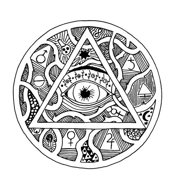 Stylized Aztec Calendar — Stock Vector © epic22 #7975510
