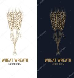 wheat wreath label template design element for logo beer label emblem sign badge vector illustration vector by art l i ua [ 1024 x 1024 Pixel ]