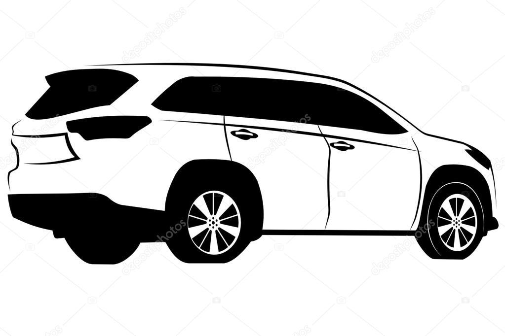 imagem vetorial de carro Toyota Suv — Vetores de Stock