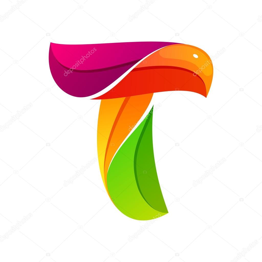 t letter logo formed