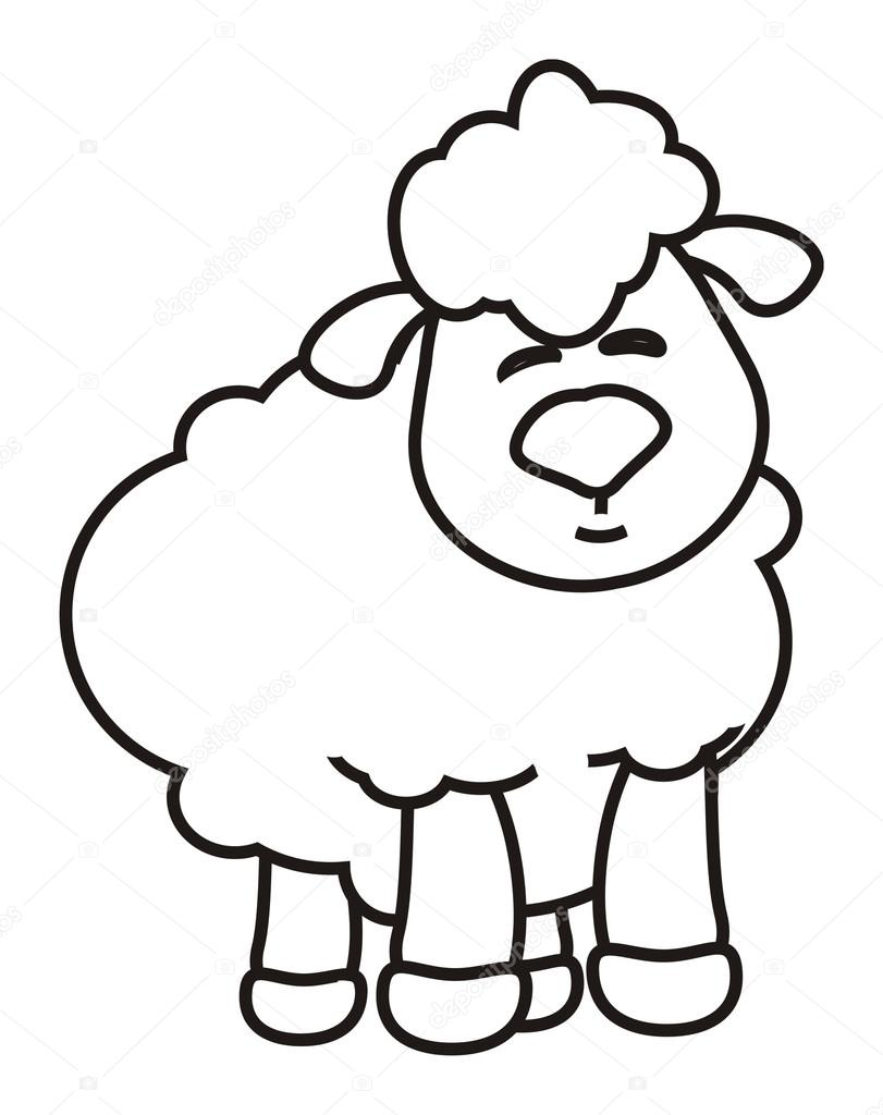 wool, black, white, example, coloring, crayons, paint