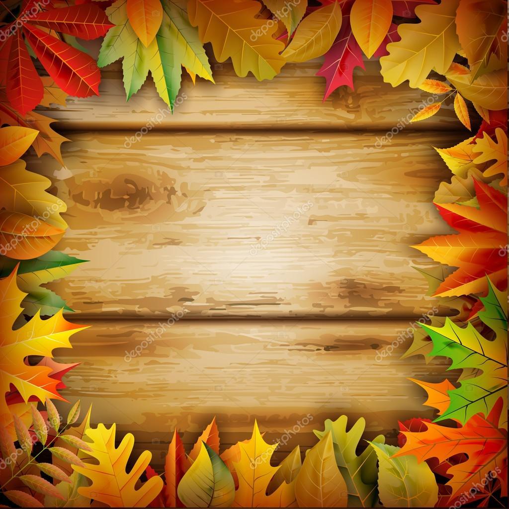 Fall Powerpoint Wallpaper Elegant Thanksgiving Background Stock Vector