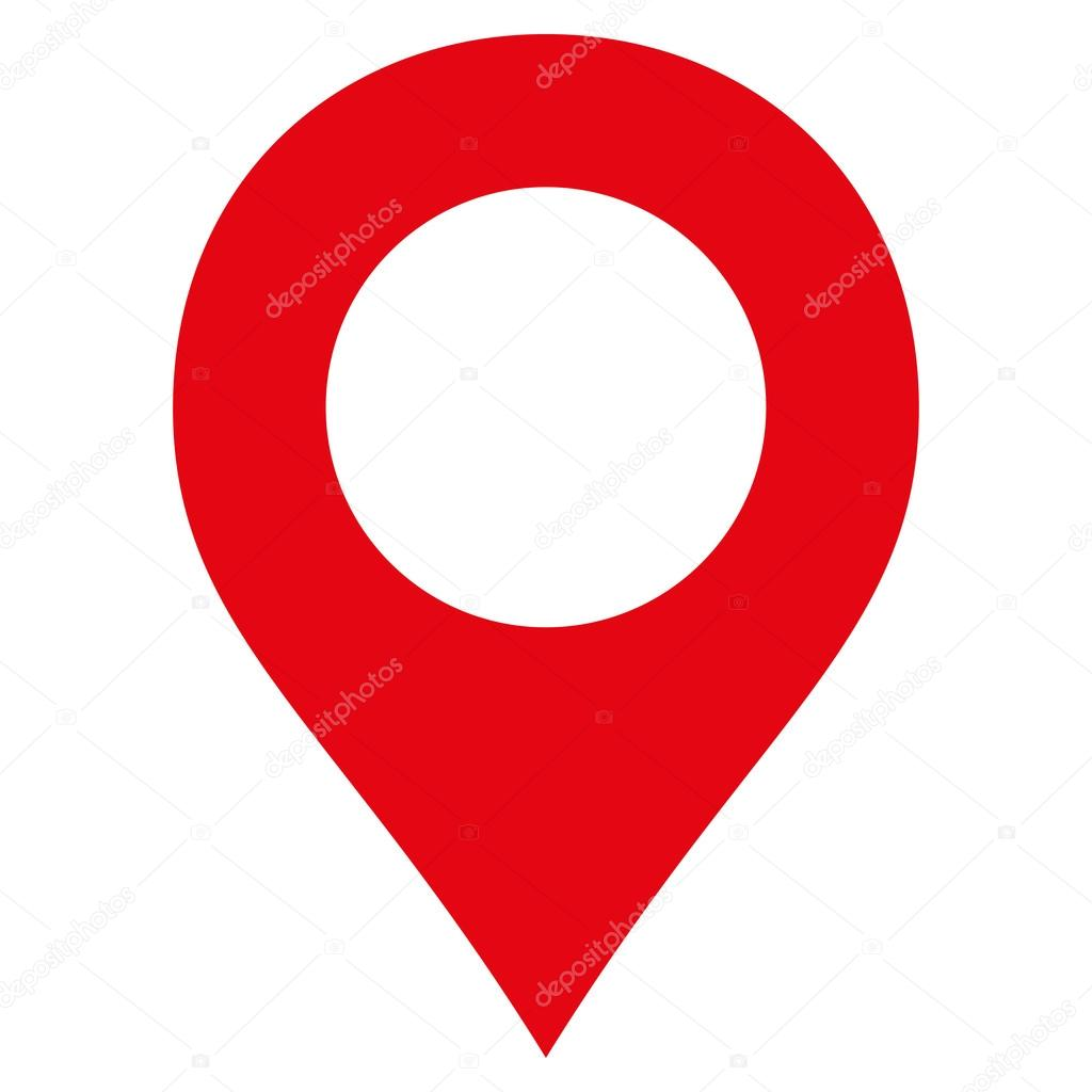map marker flat red