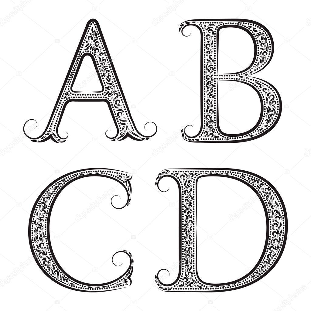 Alfabeto Estilo Barroco