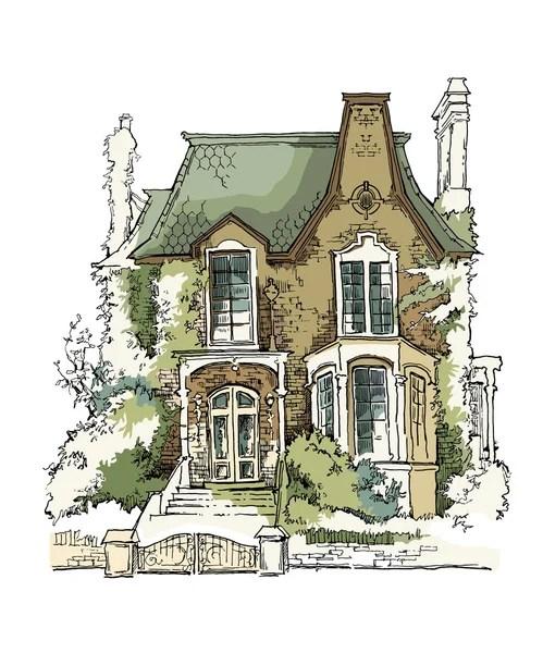 Atap Rumah Vector : rumah, vector, Eksterior, Arsitektur, Vektor,, Ilustrasi, Bebas, Royalti, Depositphotos®