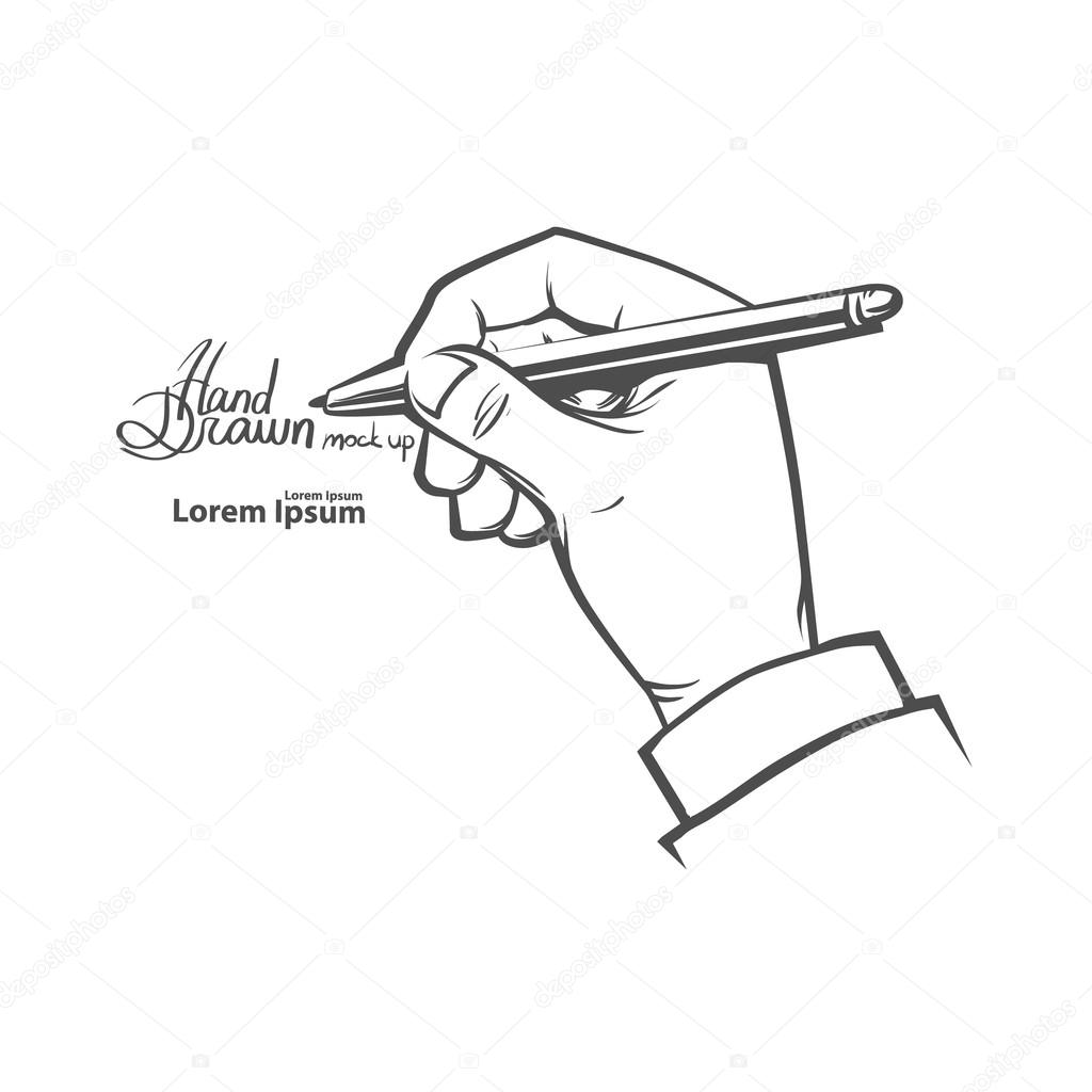 Hand write something — Stock Vector © evgenybornyakov