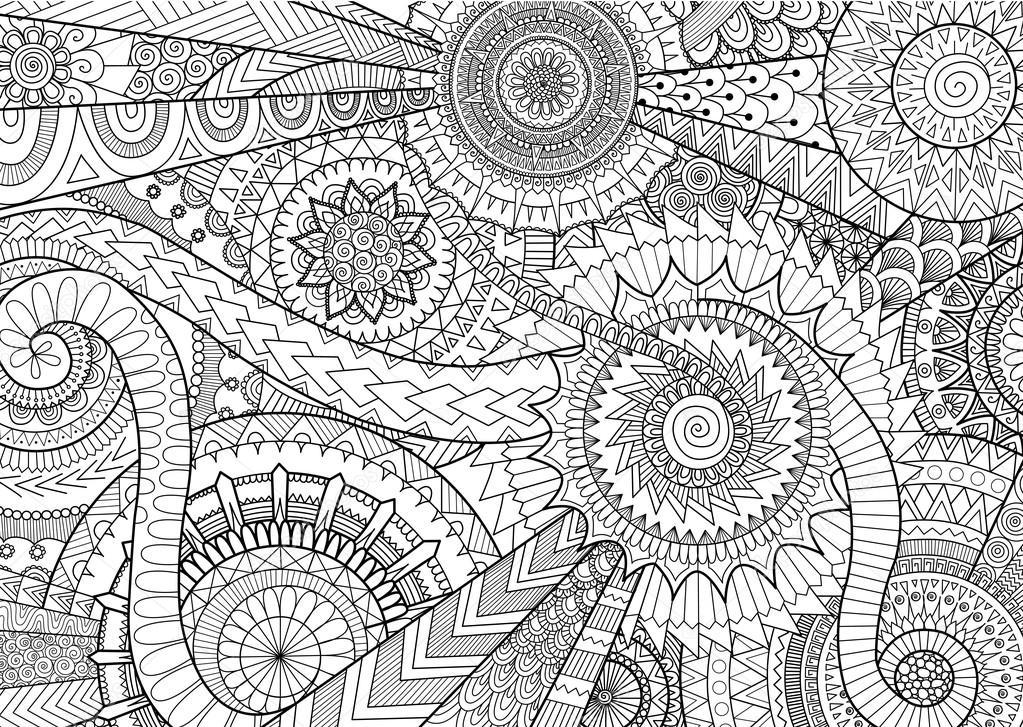 Mandalas De Complexes Pour Livre De Coloriage Adulte Et