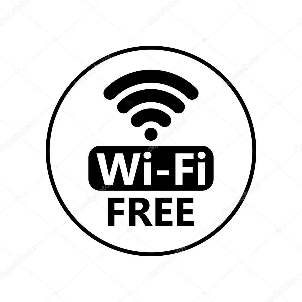 Icone De Wi Fi Gratuito Etiqueta Da Conexao Sem Fio