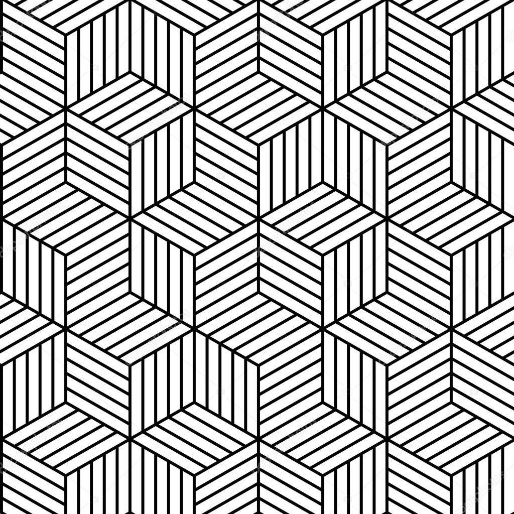 Vector Naadloze Geometrische Patroon Achtergrond