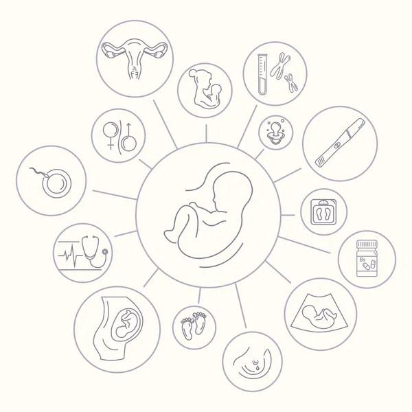 ᐈ Logotipo ginecologia obstetricia vector de stock
