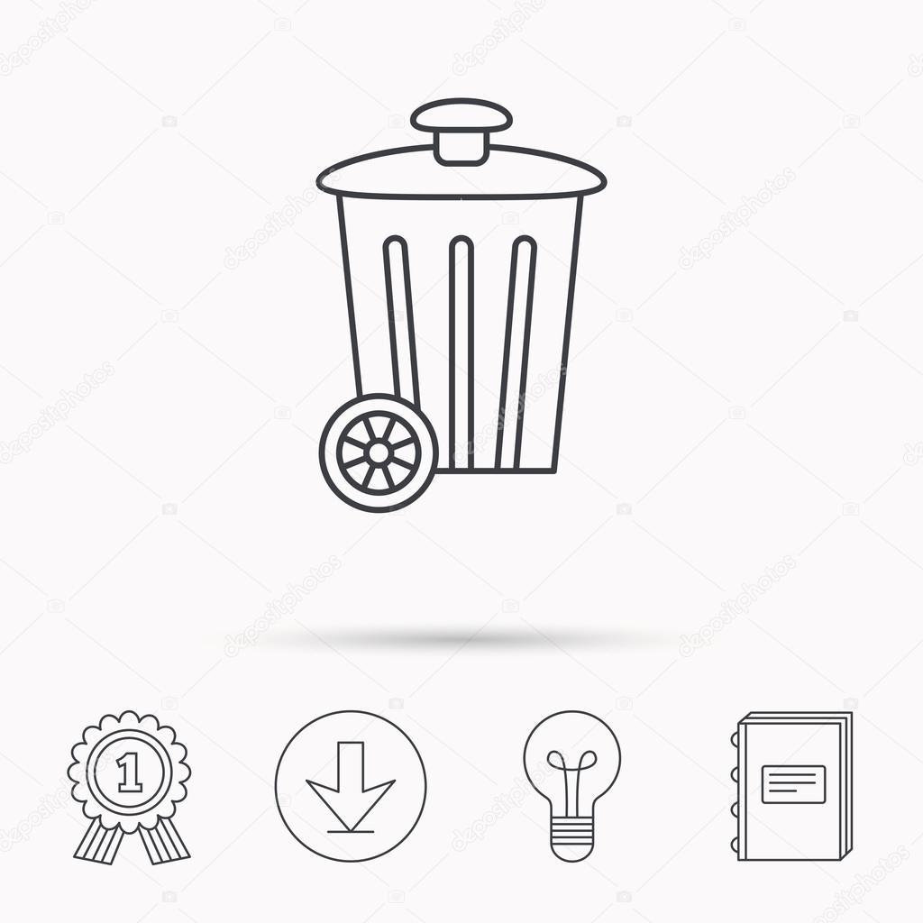 Recycle Bin Icon Sinal De Conteiner De Lixo