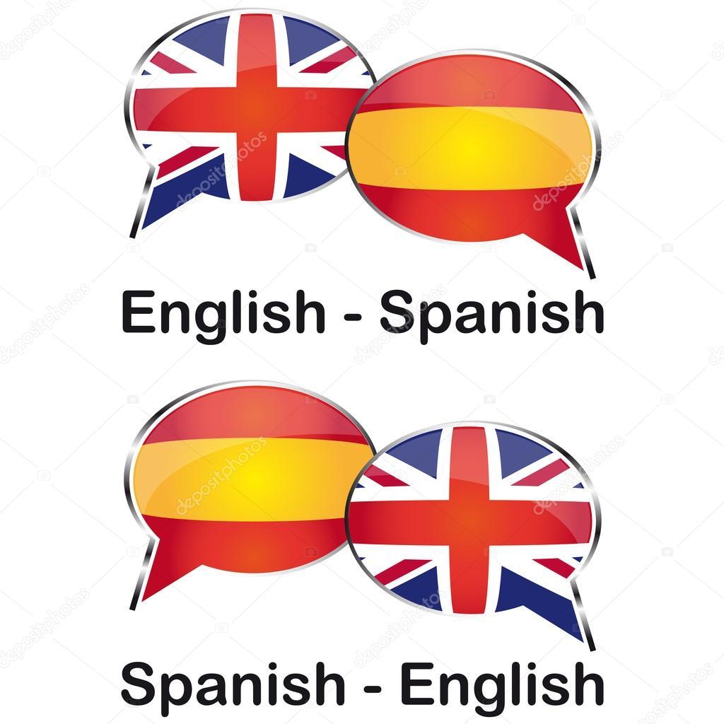 Nube Di Traduttore Inglese Spagnolo