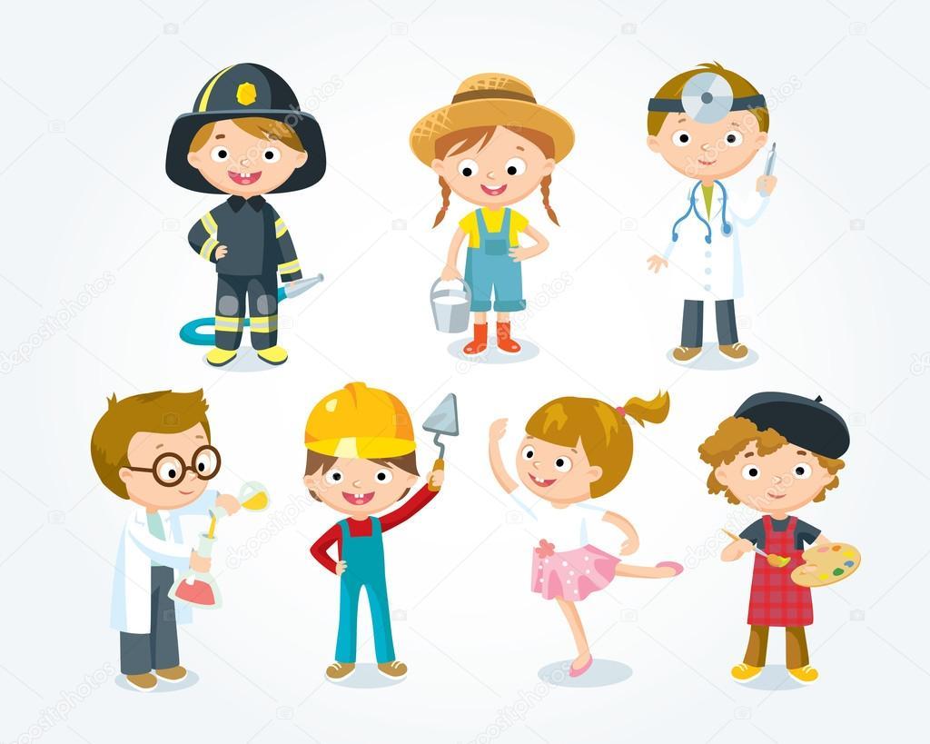 Beroepen Ter Illustratie Van De Kinderen