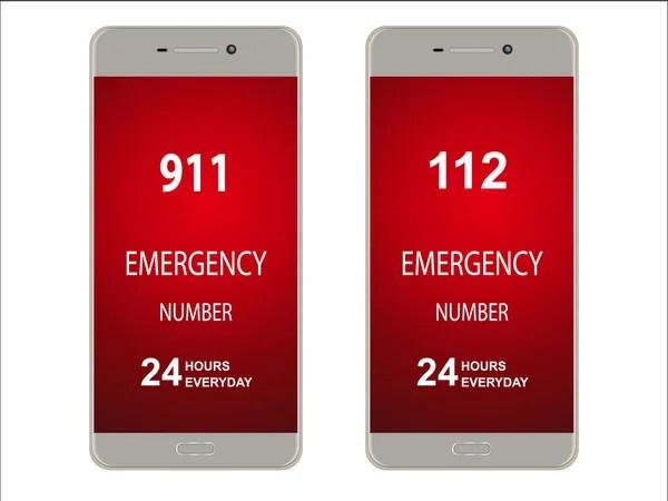 緊急時の電話番號と通知、ポスター — ストックベクター © DaneeShe #102896562