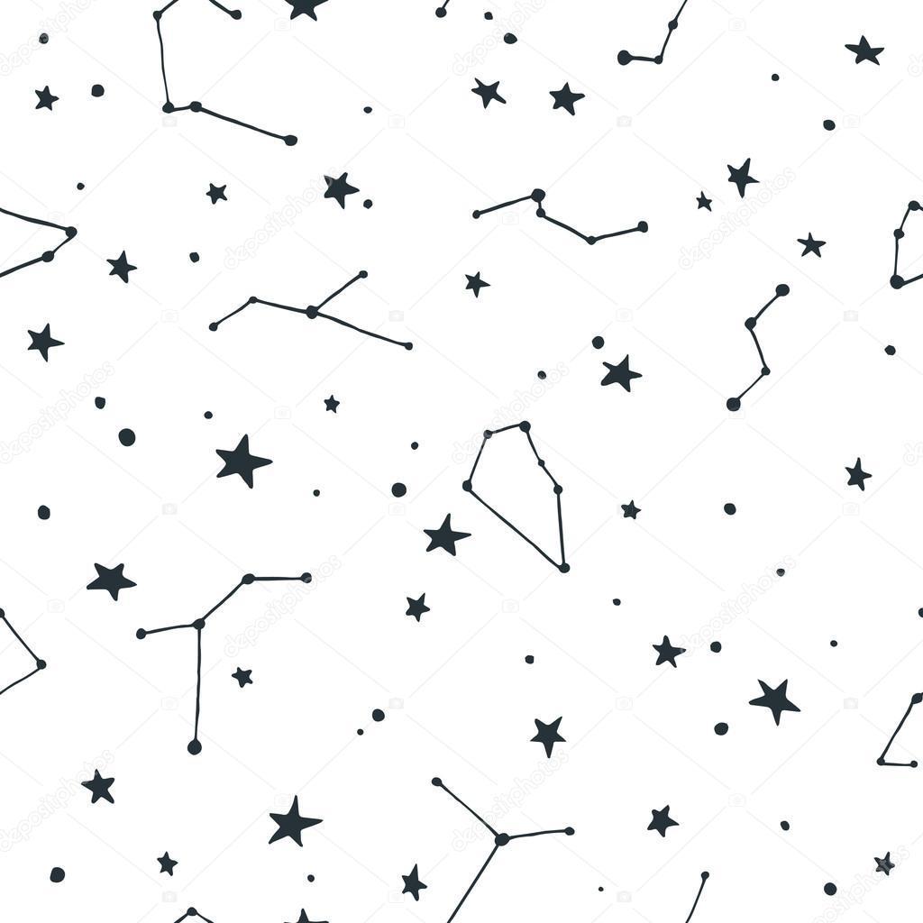 별과 별자리 포인트와 벡터 원활한 패턴 — 스톡 벡터 © bridddy #100484768
