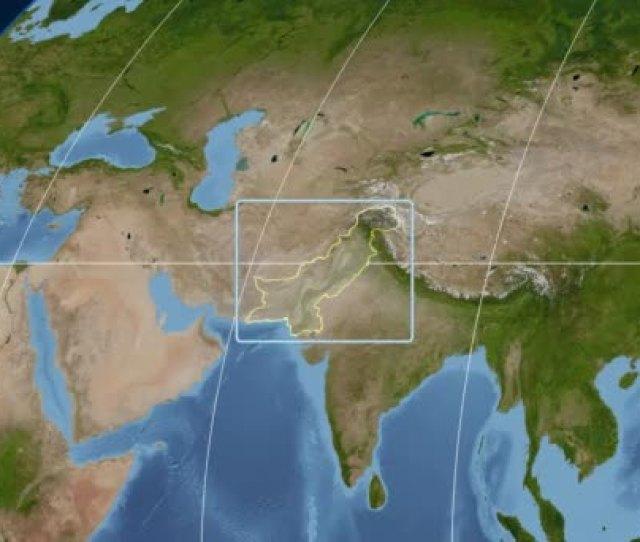 Pakistan D Tube Zoom Kavrayskiy Vii Projection Satellite Stock Video