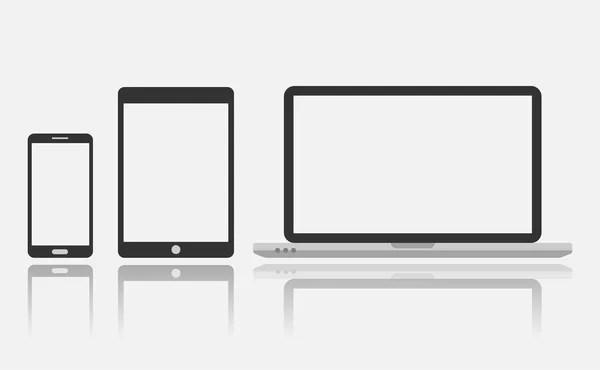 icono de smartphone, tablet y portátil — Archivo Imágenes