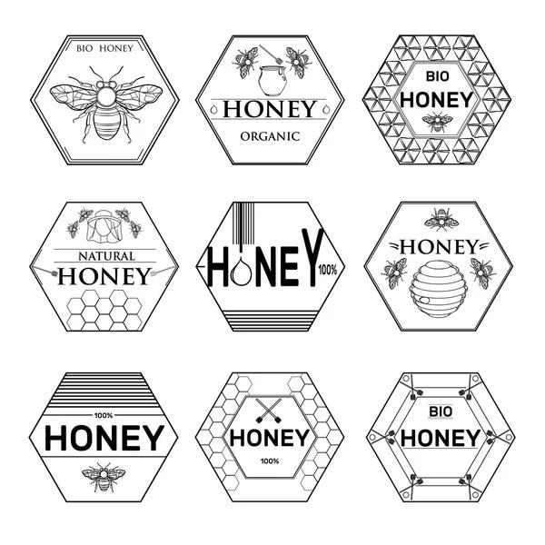 Set of golf labels, badges and design emblems — Stock