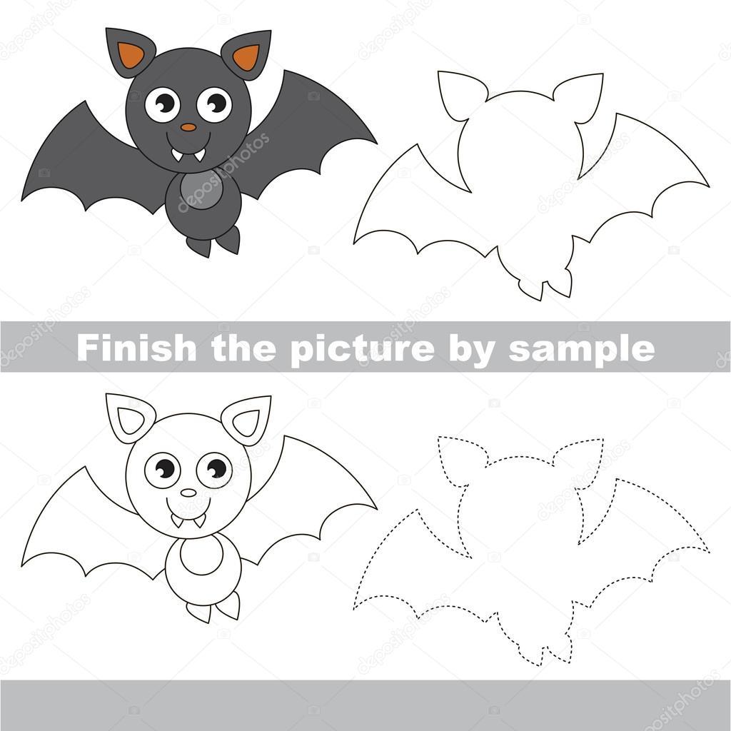Vampire Bat Drawing Worksheet