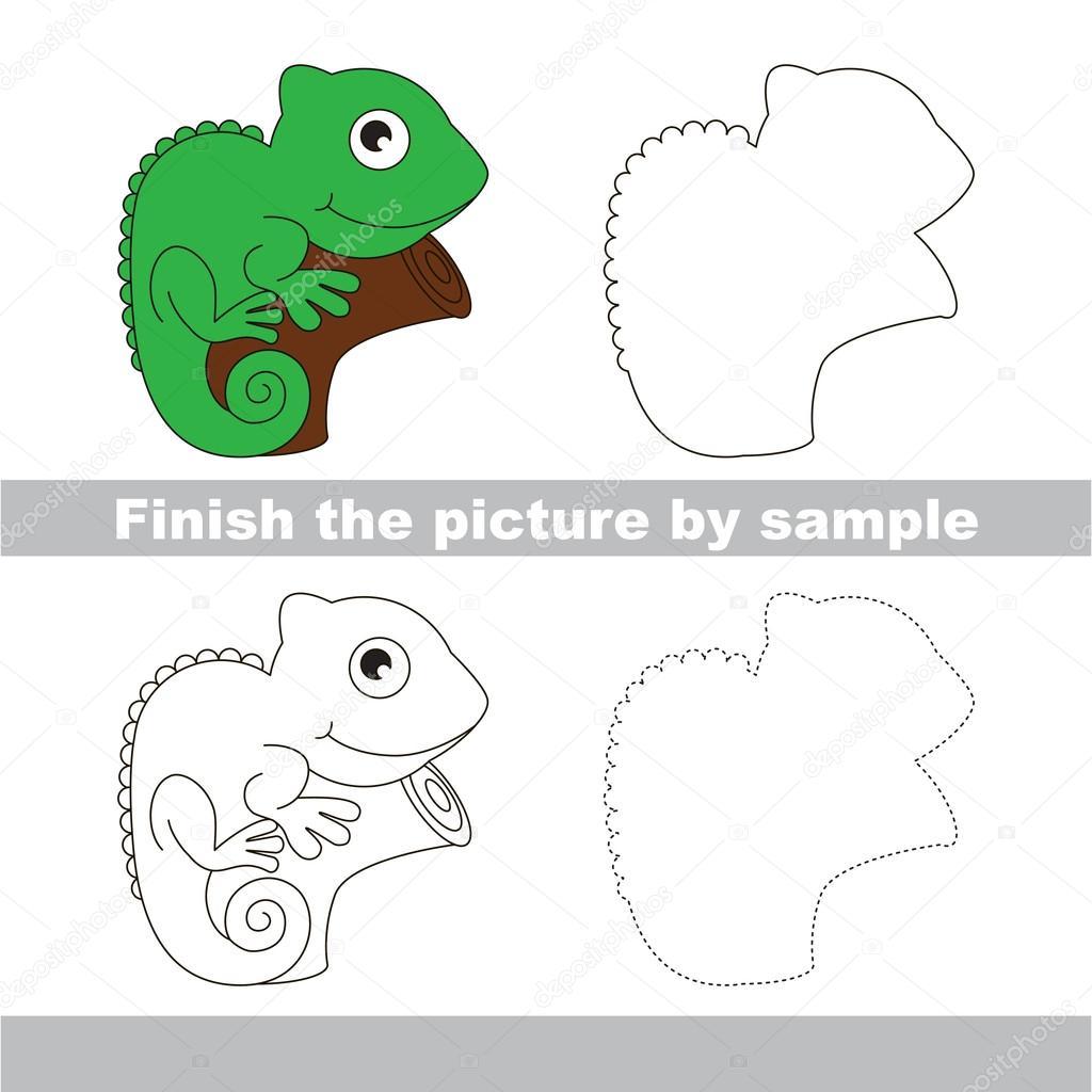 Dibujos Iguana Dibujo Paso A Paso