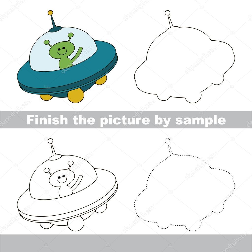 Ufo Drawing Worksheet